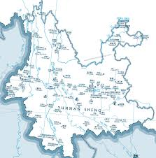Rivers In China Map Map Of Yunnan Tourist Sites