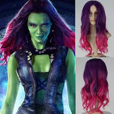Guardians Galaxy Halloween Costumes Guardians Galaxy Gamora Wig Halloween Costumes