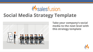 social media strategy template salesfusion