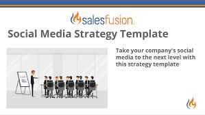social media plan social media strategy template salesfusion