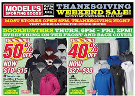 Is Sporting Goods Open On Thanksgiving Modell S Black Friday Deals Discounts List Gazette Review