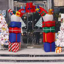 Blow Up Christmas Decorations Motor by Inflatable Christmas Decorations Ebay