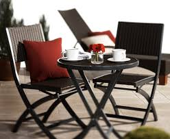 amazon com strathwood ritta all weather wicker 3 piece bistro set