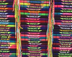 bracelet friendship name images Custom friendship bracelets etsy jpg