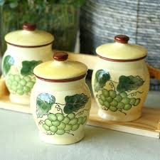 pottery kitchen canisters ceramic kitchen canister sets pottery canister sets kitchen