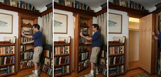 how to install a secret bookshelf door man made diy crafts