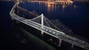 Bay Bridge Lights Lights Illuminate The New East Span Bay Bridge Info