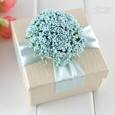 gift wrapped boxes sky blue ribbon box ivory jewelry square boxes with flower