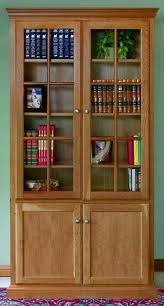 Natural Wood Bookcases Living Room Bookcases Unfinished Furniture With Doors On Bottom