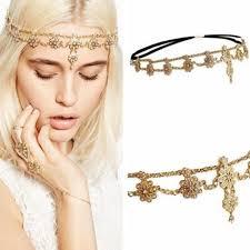 chain headpiece festival tassels metal chain headpiece hair band