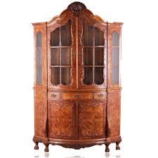 Wohnzimmerschrank Bei Ebay Antik Stil Schrank Barock Eck Vitrine Rokoko Um 1900 Wurzelholz