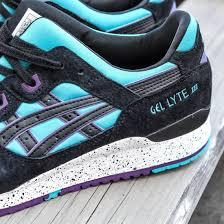 asics tiger men gel lyte iii blue peacock blue black