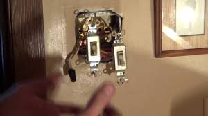 double light switch wiring how to wire a double switch light switch wiring conduit youtube