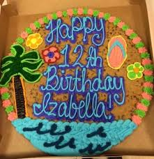 birthday cookie cake tropical cookie cake jowitasdesigns cookiecakes cookiecake
