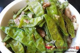 pois mange tout au porc recette chinoise