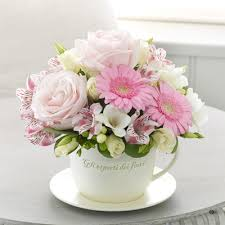 s day floral arrangements mothers day teacup and saucer arrangement mothers day flowers