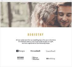 wedding registration list to create a wedding website that wows your guests