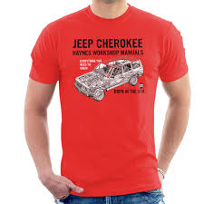 haynes owners workshop manual jeep cherokee black men u0027s t shirt ebay