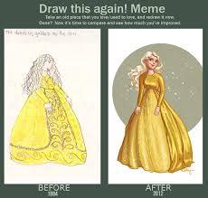 Draw This Again Meme Template - draw this again the golden dress by kelleybean86 on deviantart