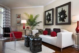 small space living room furniture with modern sofa and ghost