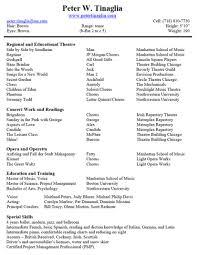 Resume Samples Internship by Sample Resume For Music Internship Augustais