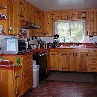 knotty pine kitchen cabinets a knotty pine kitchen respectfully retained and revived knotty