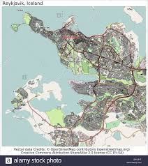 Iceland Map World Reykjavik Iceland City Map Stock Vector Art U0026 Illustration Vector