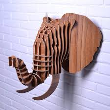 wooden animal wall creative 3d wooden elephant wall animal european style home decor