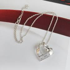 Gifts For Ladies Heart Shape Ruler Metal Pendant Retro Rotate Love Necklace Gifts