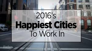 the happiest cities to work in right now
