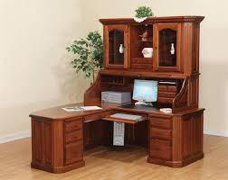 All Wood Computer Desk Corner Desk Small Oak Computer Desk In Brown Varnished Modern