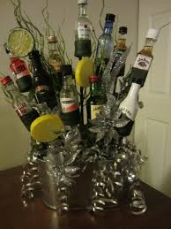 booze bouquet for my office christmas gift exchange crafty