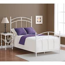 pogo twin size powdered sugar finish bed frame overstock com