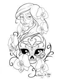 sugar skull drawing coloring 211158 sugar skull coloring