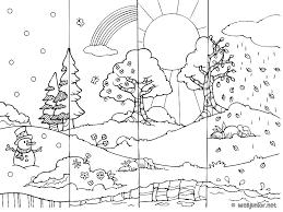 150 dessins de coloriage saisons à imprimer