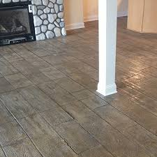 custom concrete plus wood plank embossed floor