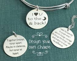 engravable sterling silver charms silver charm etsy