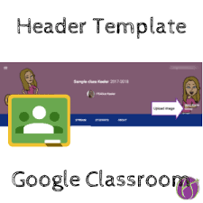 google classroom header template teacher tech