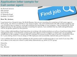 Sample Resume For Call Center Job by Call Center Agent Application Letter