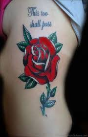 60 attractive rose tattoos on rib