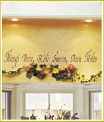 italian kitchen decorating ideas italian saying sign la famiglia e tutto translated means the