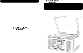 crosley radio turntable cr245 user guide manualsonline com