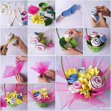Baby Gufts Recycle Old Baby Clothes Into A Flower Bouquet
