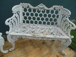 benches cast iron pair of white house garden benches at stdibs