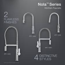 Premium Kitchen Faucets by Kraus Kpf 1640ss Modern Nola Single Lever Flex Commercial Style