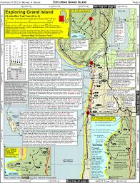 Michigan Lighthouse Map by Exploring Grand Island A Gps Enabled Usgs Map Based