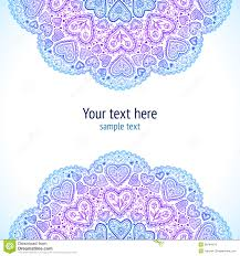 Indian Style - ornamental hearts pattern in indian style stock images