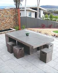 Cement Patio Table Cement Furniture Modern Concrete Concrete Cement Look Outdoor