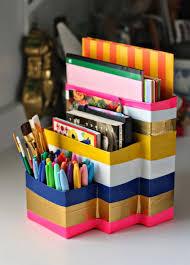 Desk Organizer Ideas by Diy Desk Organizer Tutorial Home Design Ideas