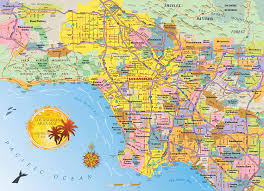 Metro La Map Amazon Com Los Angeles Area Map Jigsaw Puzzle 1000 Piece Map